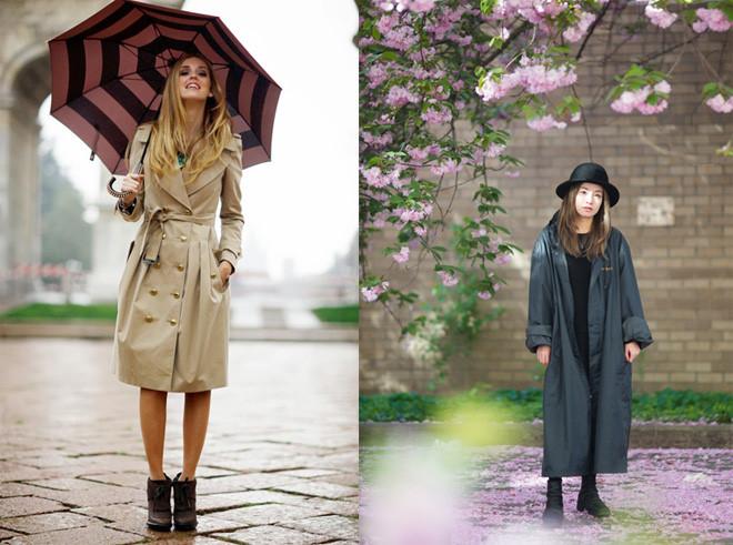 Thời trang đi mưa